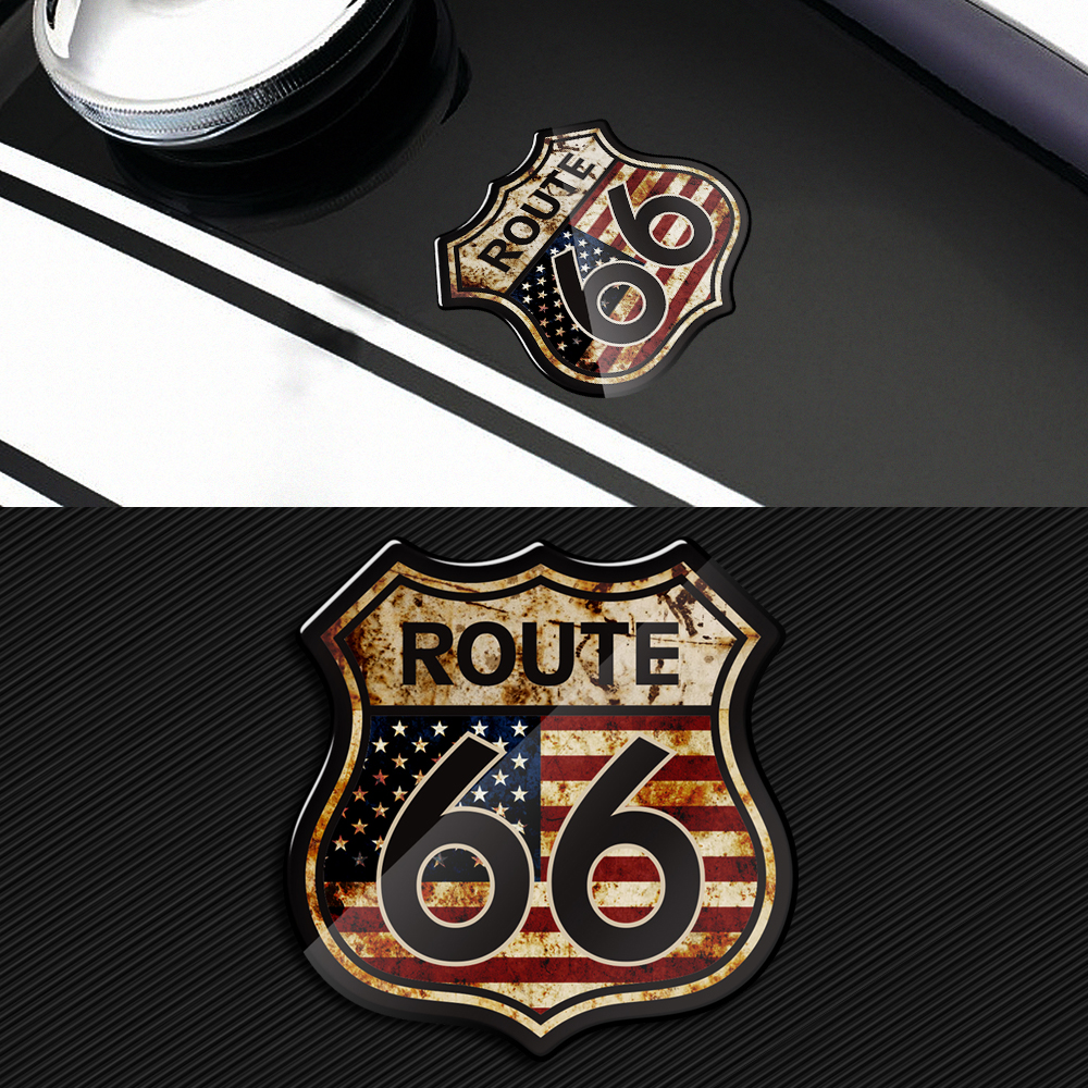 3D Motorcycle Decals US The Historic Route 66 Stickers Fit For Harley Indian Motorbike