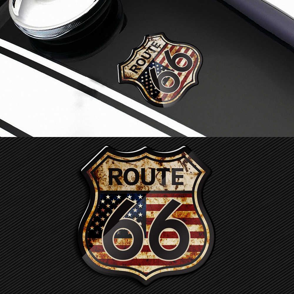 3D Motorrad Aufkleber UNS Der Historischen Route 66 Aufkleber Fit für Harley Indische Motorrad
