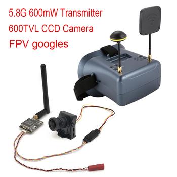 Łatwy w użyciu nadajnik 5 8G 600mW + kamera CCD 600TVL 5 8G FPV + LS-008D FPV Googles z DVR dla RC fpv racing drone car tanie i dobre opinie SKYRC CN (pochodzenie) 5 8G FPV Set as show
