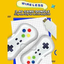 2 Spelers 1080P Draadloze Tv Video Game Console Met 638 Spelletjes Mini Dual Gamepad