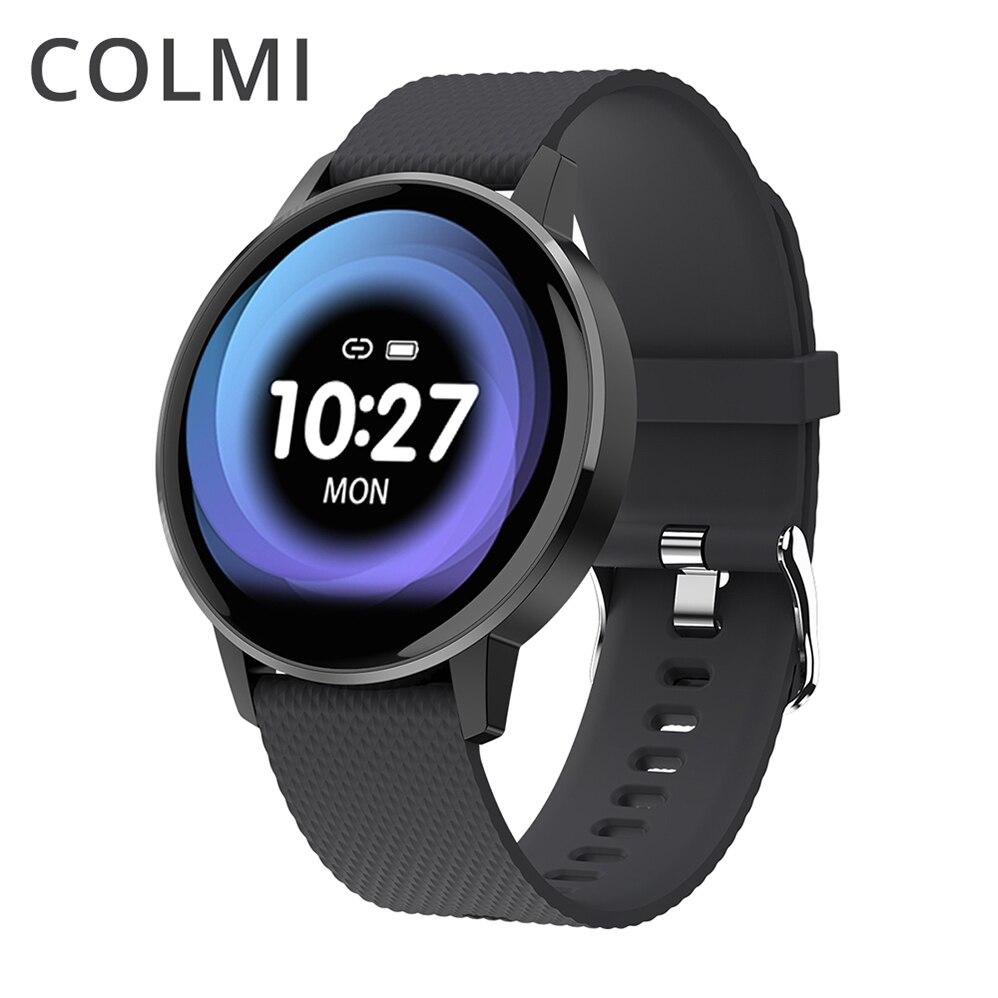 COLMI Relógio Inteligente Pulseira Heart Rate Monitor de Pressão Arterial T4 Lembrete Chamada Rastreador De Fitness À Prova D' Água Relógio Inteligente IOS Android
