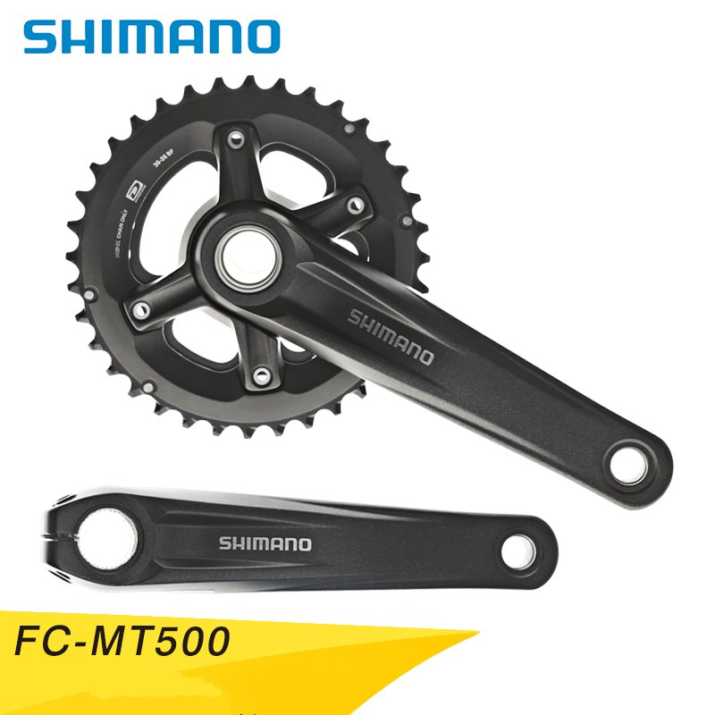 Original Shimano DEOREChainwheel MTB FC-MT500-2 36-26T170mm/175mm Black Bicycle Bike Part