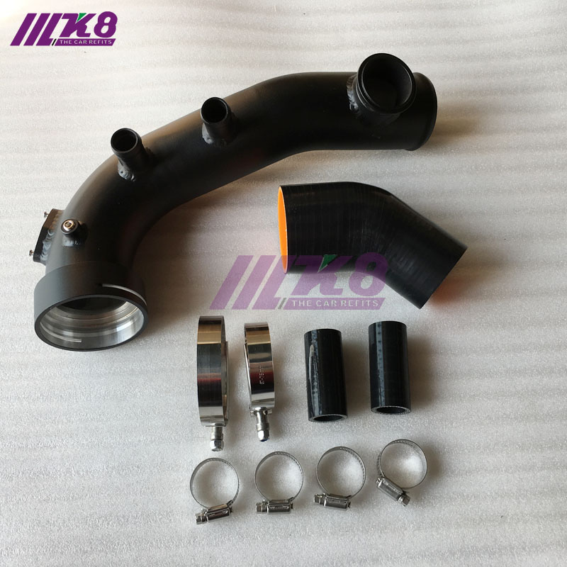 Kit de refroidissement de tuyau de Charge IntakeTurbo noir pour BMW N54 E88 E90 E92 135i 335i