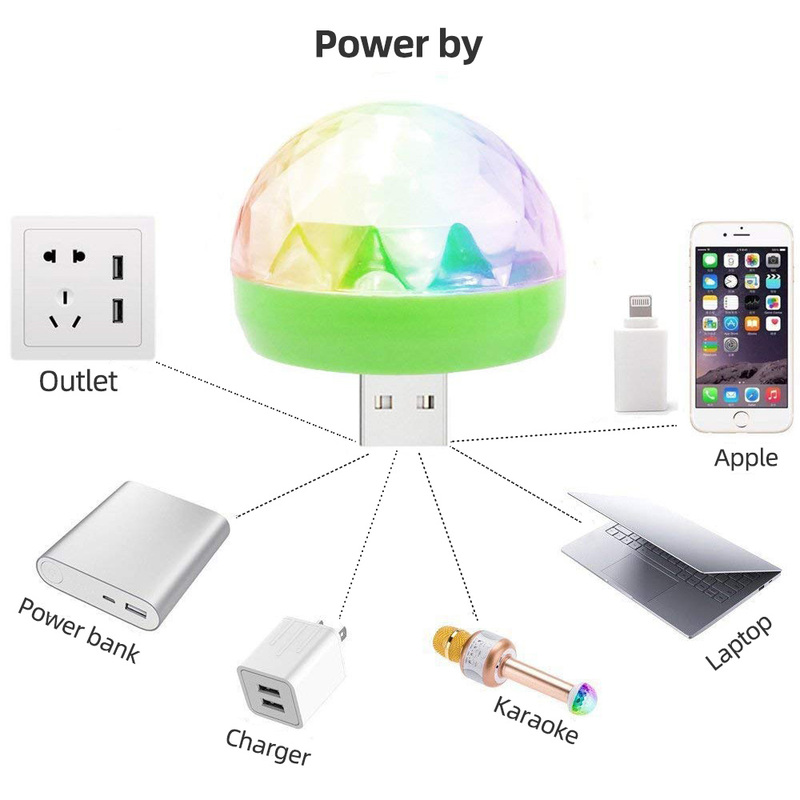 H6cb547be13544463a887c57d28c59fdaB - Aimkeeg RGB Mini USB LED Party Lights Portable Sound Control Magic Ball 3W Mini Colorful DJ Magic Disco Stage Lights for Mobile