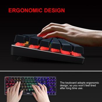 RedThunder K89 Mechanical Gaming Keyboard with Numeric Keypad Blue Switch Programmable RGB LED Backlight for Desktop PC Gamer 5