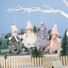Desktop Decor Christmas Elk Santa Claus Shape Home Decoration With Bell Ornaments Novelty