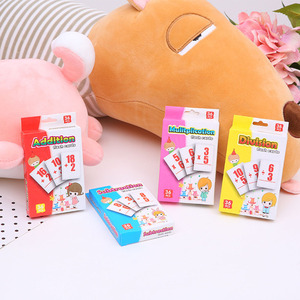 36pcs Baby Math Card English Learning Arithmetic Cards Early Education Toy Division Method Math Toy Intelligence Toys for Kids
