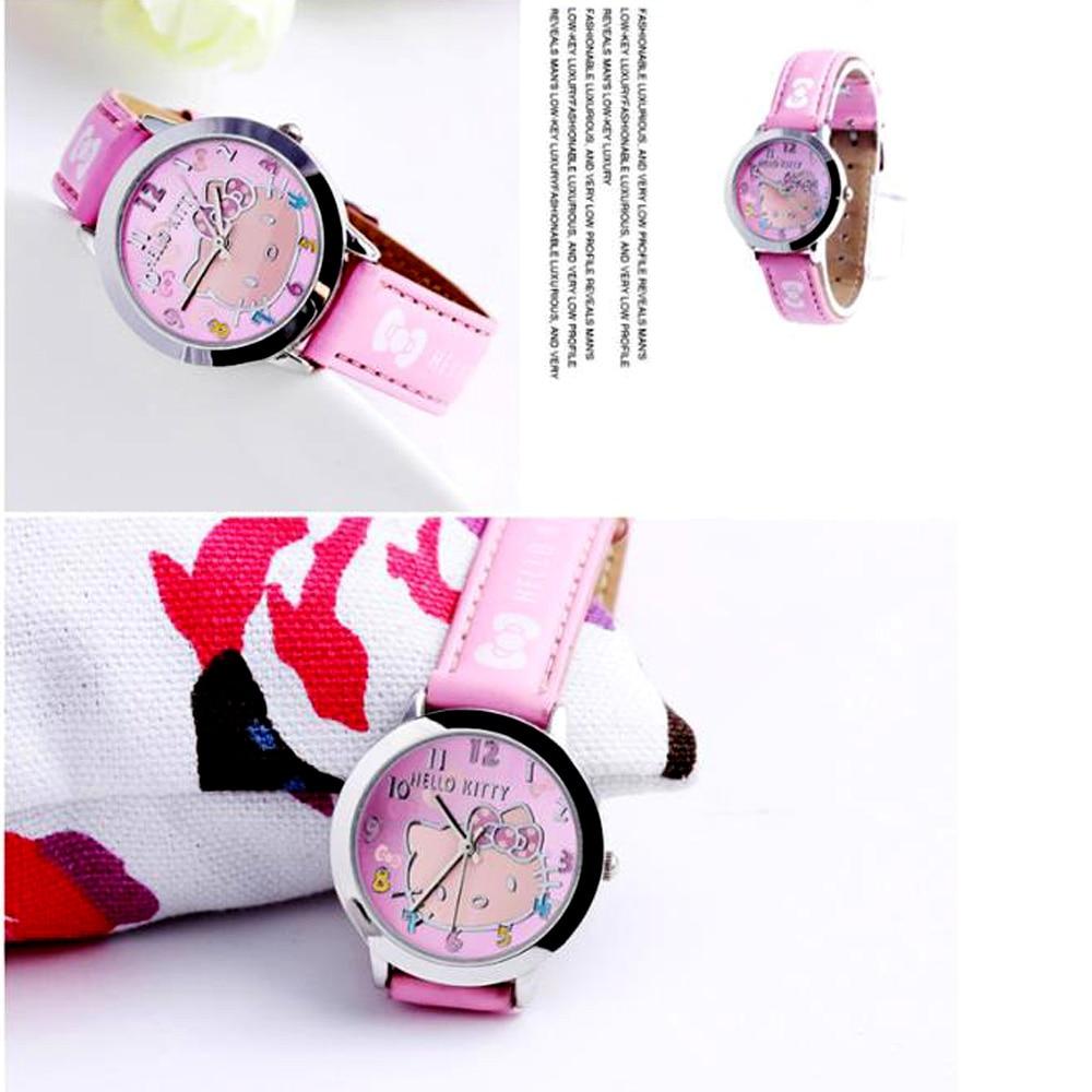 hello Kitty High Quality Children% 27s часы kt cat child watch beautiful girl watch belt kids cartoon watch