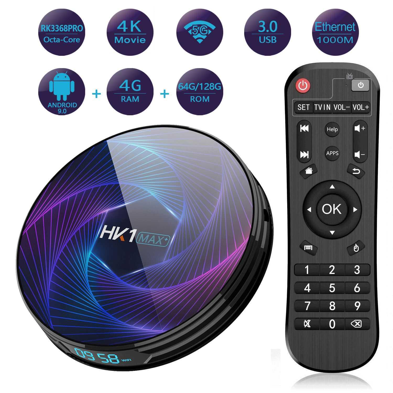 HK1 Max Plus RK3368PRO Smart TV Box Octa Core 4GB 32/64/128GB ROM 1080P 4K 1000M LAN 5G WIFI bluetooth4.0 Android9.0 für Youtube