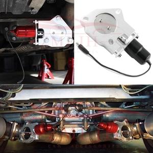 """Image 2 - 1 """"2"""" 2.25 """"2.5"""" 3 """"universal T 6061 alumínio catback de escape elétrico/downpipe recorte/E CUT para fora válvula do motor kit tp006a eua navio"""