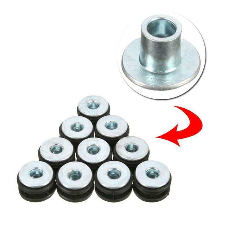 10Pcs Motorcycle M6 Rubber Grommets Bolt Pressure Relief Cushion Kit Replacement Accessories For Honda Y~amaha Suzuki Fairings