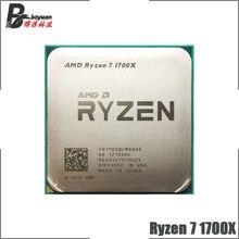 AMD Ryzen 7 1700X R7 1700X 3.4 GHz sekiz çekirdekli on altı iplik CPU işlemci YD170XBCM88AE soket AM4