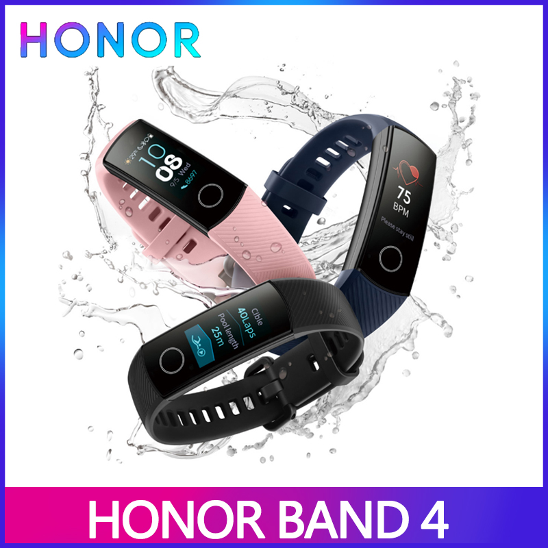 Honor Smart-Bracelet Fitness-Tracker Touch-Screen Band-4 Global Waterproof Versio 50m title=