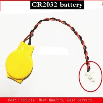 5 unids/lote CMOS de batería para ordenador portátil CR2032 3P batería de la placa base con cable de 3V