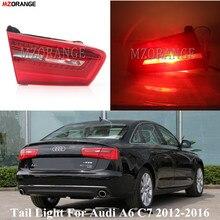 MZORANGE voiture rouge intérieur côté queue feu stop lampe clignotant feu arrière pour Audi A6 C7 2012 2013 2014 2015 2016