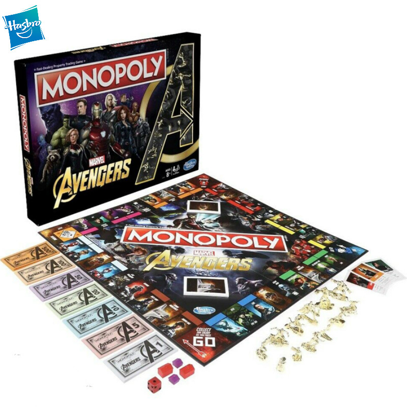 Hasbro Gaming Monopoly Avengers The Avengers Endgame English Monopoly Intelligent children Party Games and Puzzles toys