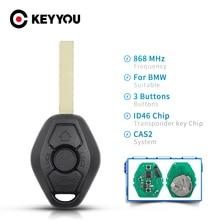 KEYYOU 5XสำหรับBMW 3 5 7 Series CAS2ระบบID46ชิปรถRemote Key Fob 315LP 315MHz 433MHZ 868MHZ Uncut HU58 HU92ใบมีด