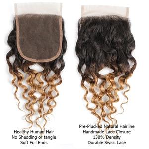 Image 5 - MOGUL שיער 50 גרם\יחידה 4/6 חבילות עם סגירת מים גל Ombre בלונד דבש ברזילאי ללא רמי שיער טבעי חום קצר בוב סגנון