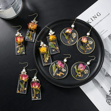 Nova moda eterna flor brincos para mulheres meninas de água doce pérola earing jóias por atacado pendientes vintage