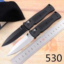 JUFULE manche pliable, OEM 530 530BK, manche en fibre de tungstène, couteau de poche pliable et survie, pour le camping et la chasse et la survie, EDC