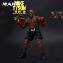 Toys FOR fans Full Set World Heavyweight Champion MIKE TYSON Tattoo Version with Three Heads Figure Model Action