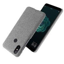 İnce bez doku kapak için Xiaomi Mi 6X A2 kılıfı kumaş ultra ince Antiskid Anti-fall çapa Xiaomi Mi a2 6X MI6X MIA2 5.99