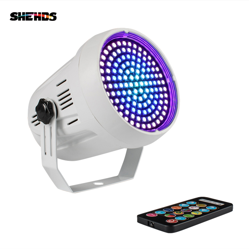SHEHDS LED 127 RGB Mixed Color 91 Strobe Disco Festival Party Music Club Remote Sound Wedding Flash Effect KTV Stage Lighting