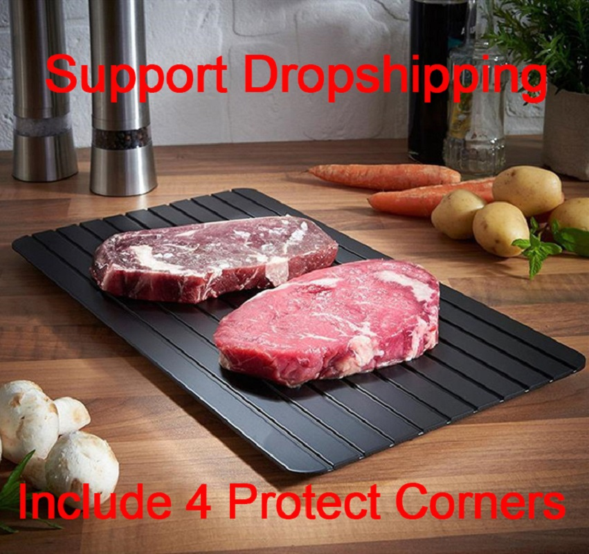 Fast Defrosting Plate Thaw Tray  Froze Defrost Meat Fruit Food Quick Defrosting Plate  Thaw Board( Include 4pcs Protect Corner)