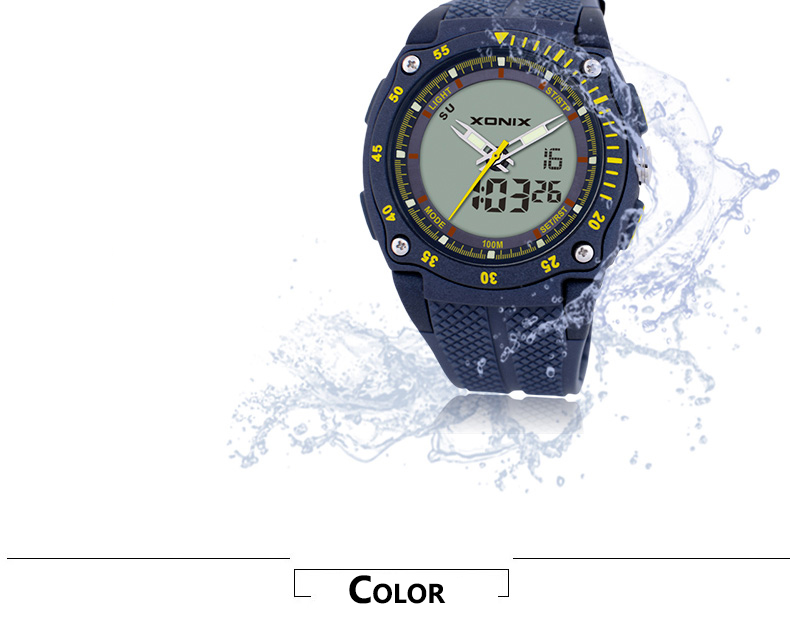 prova dwaterproof água 100 m mergulho relógio masculino dh