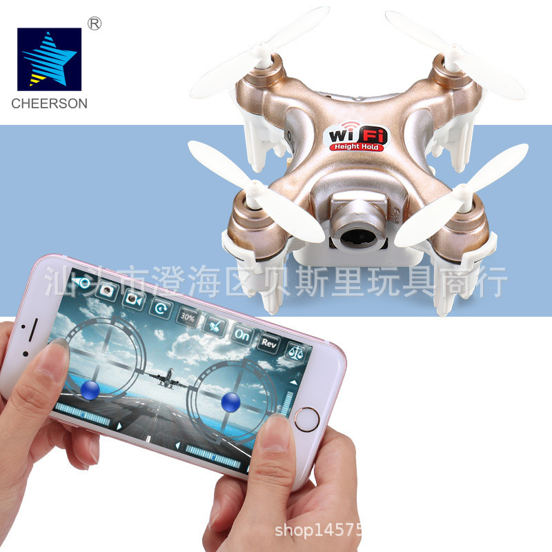 Chengxing New Products Cx-10w Mobile  Phone  remote Control Mini Four-axis Aircraft Aerial Photography Quadcopter Unmanned Aeria