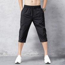 Мужские шорты летние бриджи 2021 тонкие нейлоновые брюки длиной 3/4 мужские бермуды быстросохнущие пляжные черные мужские длинные шорты