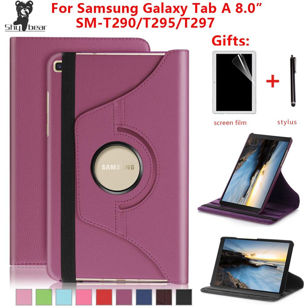 """Per Samsung Galaxy Tab A 8.0/"""" T290 P200 2019 Rotante Custodia Supporto Pelle"""