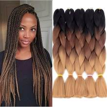 Smart Braid Hair Kanekalon Synthetic Ombre Hair Braiding Extensions High Temperature Fiber Crochet Twist Braids Pre-stretched(China)