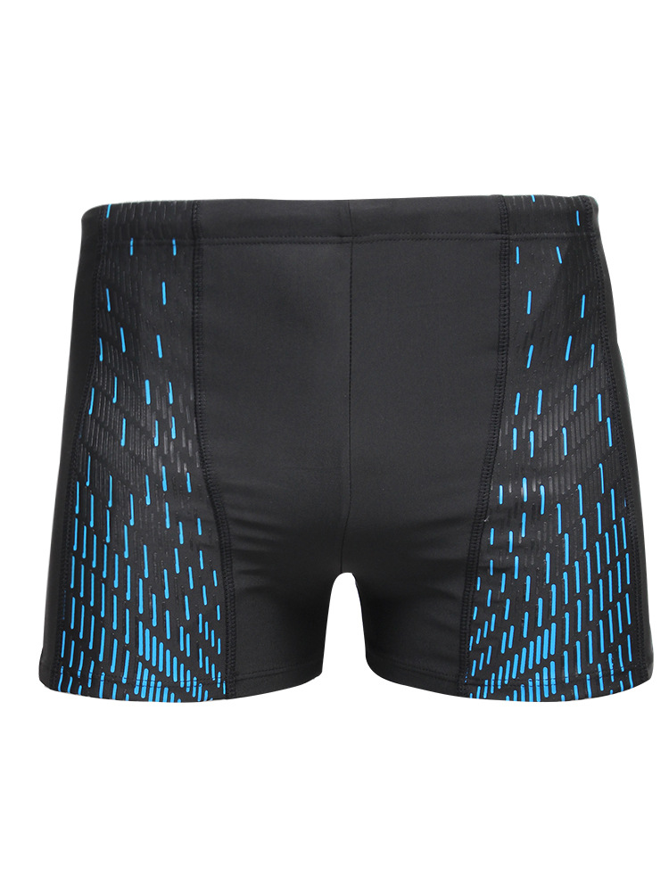 2020 New Style Men Sports Stripes Stereo Printed Swimming Trunks Swimming Trunks Athletic Boxers