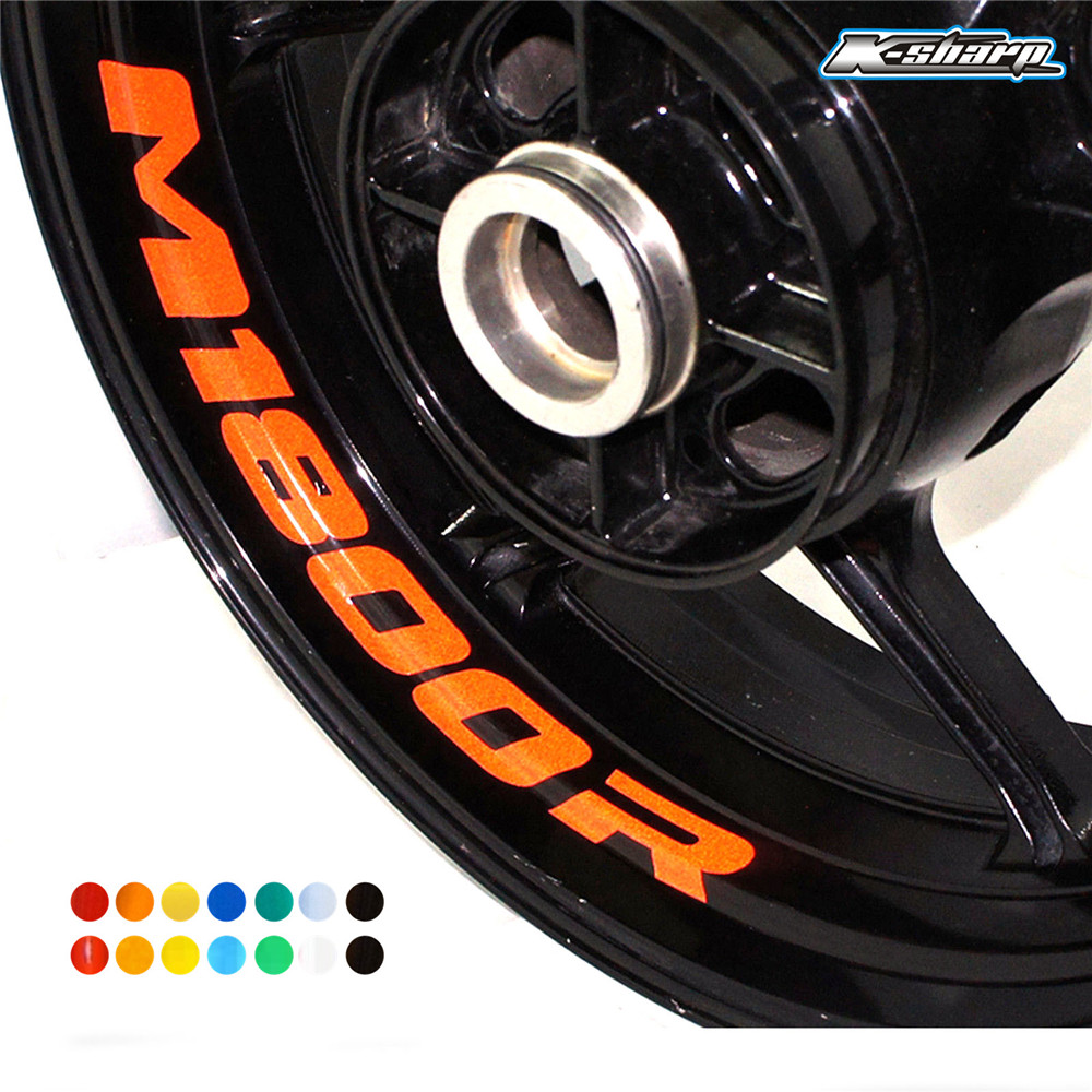 Motorcycle Wheel Sticker Decal Reflective Rim Bike Motorcycle Suitable For SUZUKI M1800R