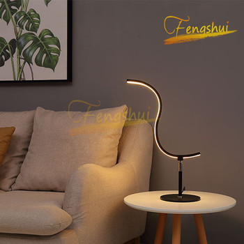 Modern LED Table Lamp Lighting Nordic Creative Special-shaped Table Lamp Tri-color Light Source Table Lamp Attic Indoor Desklamp фото