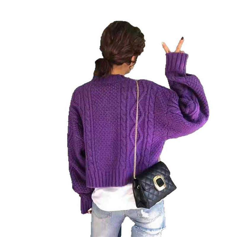 Jvcake 2020 Fashion Women's Cardigans Autumn Winter Knit Sweater Long Sleeve Beige Purple Sweater Beige White Women's Clothing