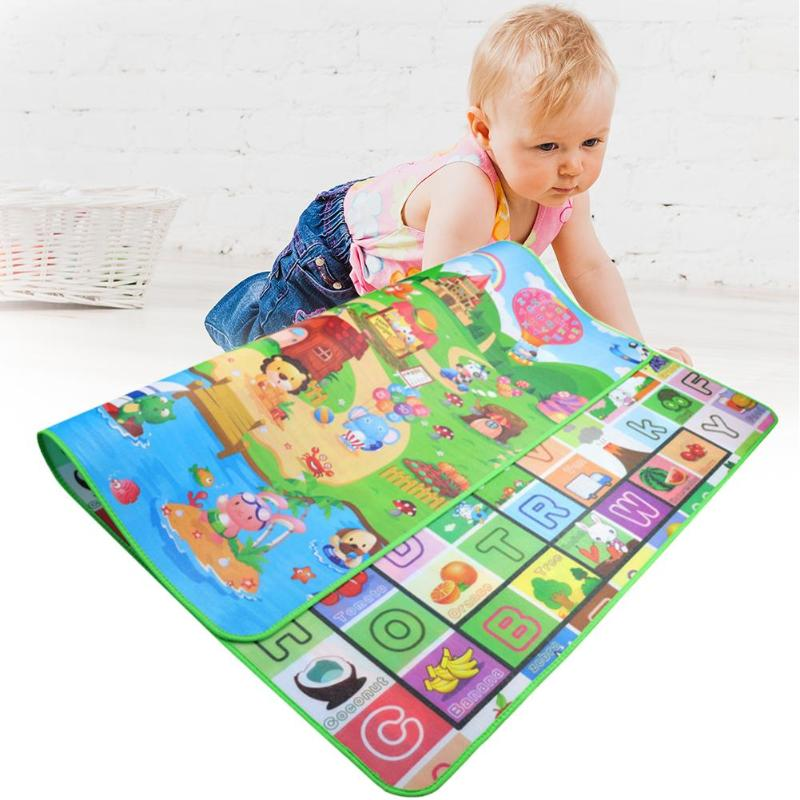 0.5cm Baby Crawling Mat EPE Pearl Cotton Environmental Protection Outdoor Playing Carpet Letter Animal Teaching Pad Infant