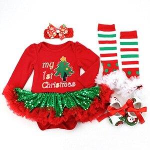 Image 3 - תינוקת Romper 0 2Y סתיו חורף יילוד תינוק בגדי בנות חג המולד מתנת ילדי Bebe סרבל תינוקת תלבושות בגדים
