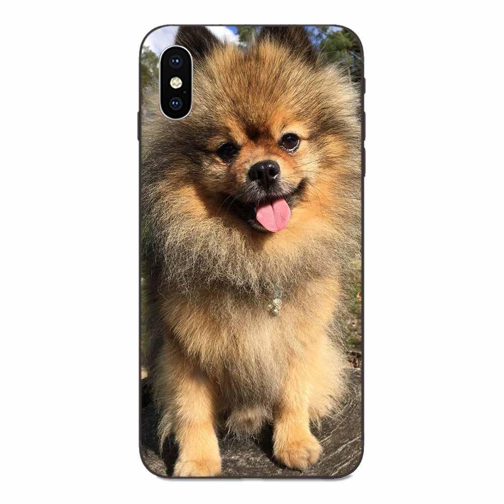 Para Apple iPhone 4 4S 5 5S SE 6 6S 7 8 Plus X XS X Max XR bricolaje hermoso caja de los accesorios del teléfono Shibainu perro