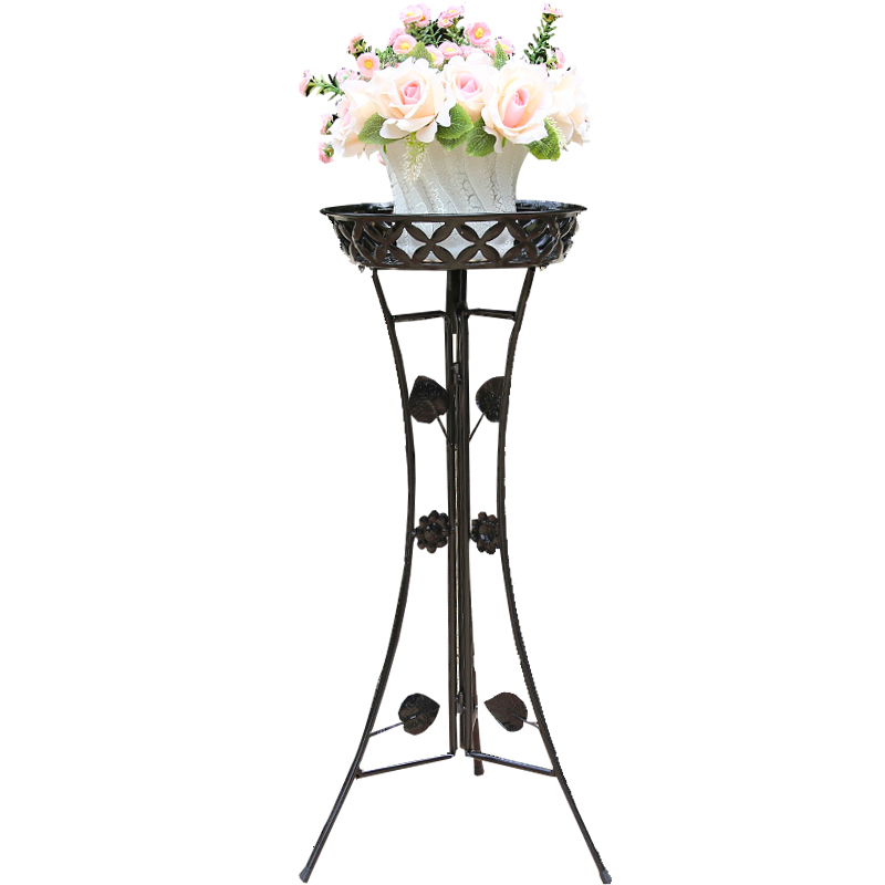 Style Iron Art Flower Rack Landing Type Balcony A Living Room Ground Flowerpot Frame Green Luo Chlorophytum Meaty Flower Airs
