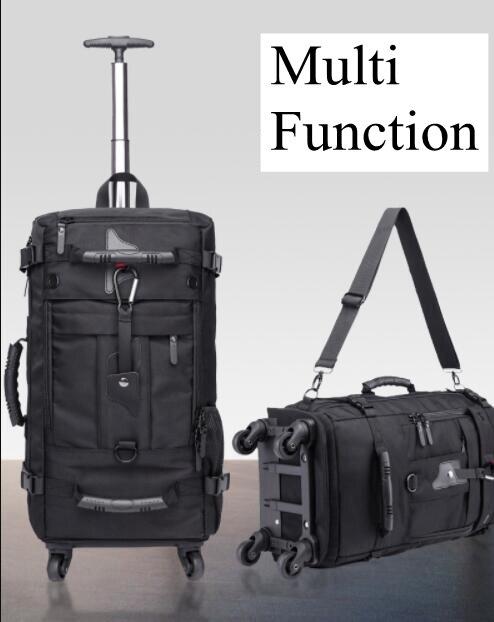 Kaka homens viagem trole mochila rolando bagagem sacos sobre rodas rodas mochila para a cabine de negócios viagem trole sacos - 5