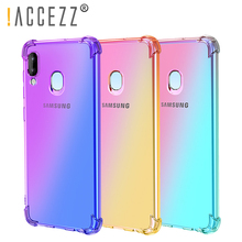 !ACCEZZ Colorful For Samsung A40 A50 Soft Phone Case Protection Back Cover For Galaxy A50 A40 TPU Thin Phone Shell Fitted Case mofi for samsung galaxy a40 phone cases ultra thin slim cover case protective back shell for samsung galaxy a40