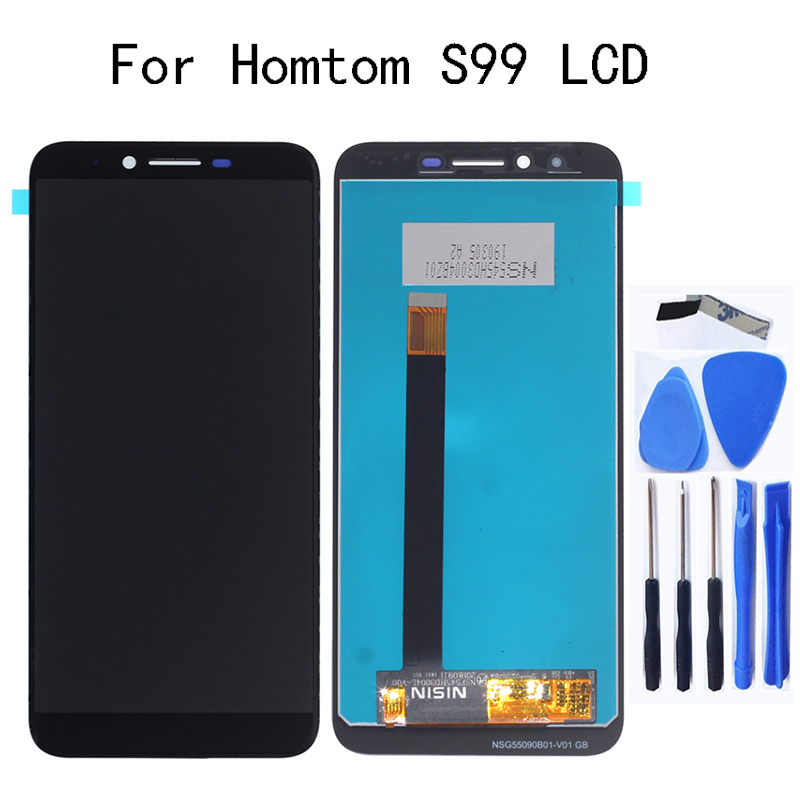 5.5'' original display for Homtom S99 LCD Display + touch screen digital converter screen assembly repair parts For S99 screen(China)