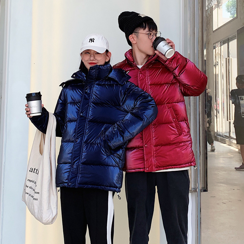 Down   Woman School The Wind Light Noodles Lovers Serve Cotton-padded Clothes Schoolgirl Original Old Bf Short Fund Loose   Coat