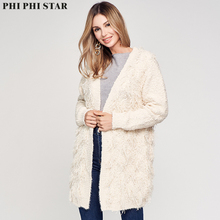 Phi Star Brand Lady Winter Custom Warm Comfortable New Mid-length Womens Cardigan Sweaters