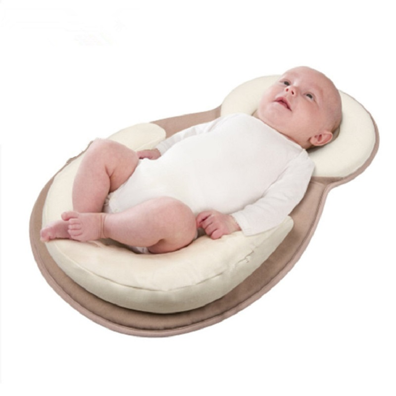 Multifunction Baby Crib Newborn Corrective Anti-head Pillow Anti-overflow Positioning Memory Pillows Nursery Travel Folding