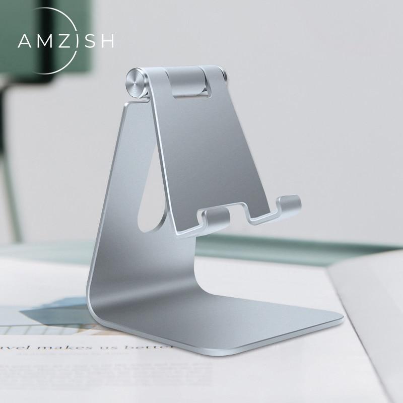Amzish suporte universal de celular para iphone, suporte de mesa para celular samsung, huawei e xiaomi