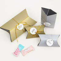 wedding party favors gold mini valentine's day gift paper boxes for packaging manual folding pillow box small candy box gift box