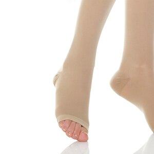 Image 5 - ถุงน่องการบีบอัดผู้ชายผู้หญิง,เปิดนิ้วเท้า,20 30 MmHgถุงเท้าDVT,คลอดบุตร,การตั้งครรภ์,เส้นเลือดขอด,Shin Splints
